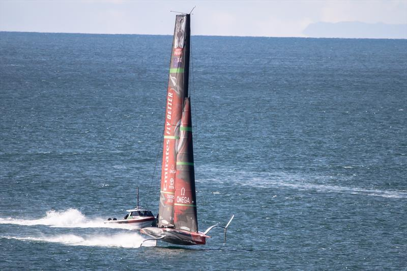 Emirates Team New Zealand's AC75, Te Aihe gets sailing again in Auckland - June 30, 2020 - photo © Richard Gladwell / Sail-World.com