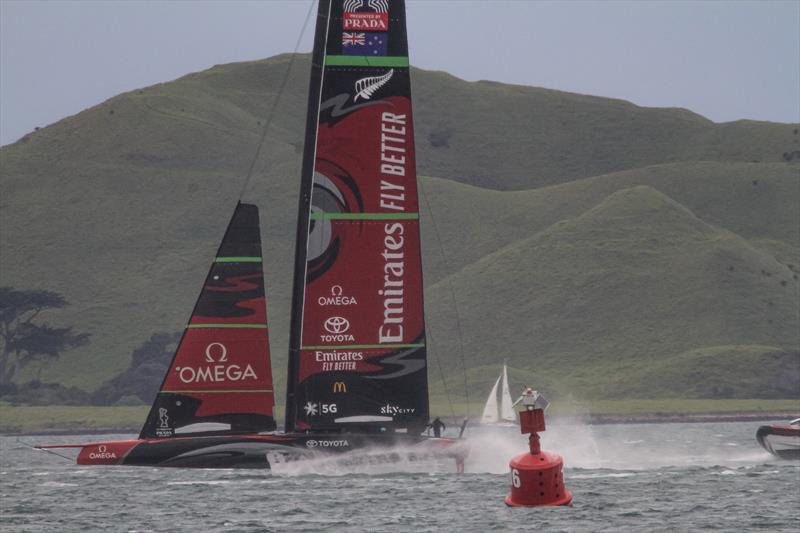 Te Aihe - AC75 - Emirates Team New Zealand - July 15, 2020 - Waitemata Harbour, Auckland, New Zealand photo copyright Richard Gladwell / Sail-World.com taken at Royal New Zealand Yacht Squadron and featuring the AC75 class