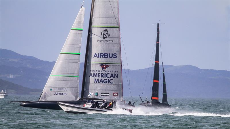 American Magic - Waitemata Habour - Auckland - America's Cup 36 - July 28, 2020 - photo © Richard Gladwell