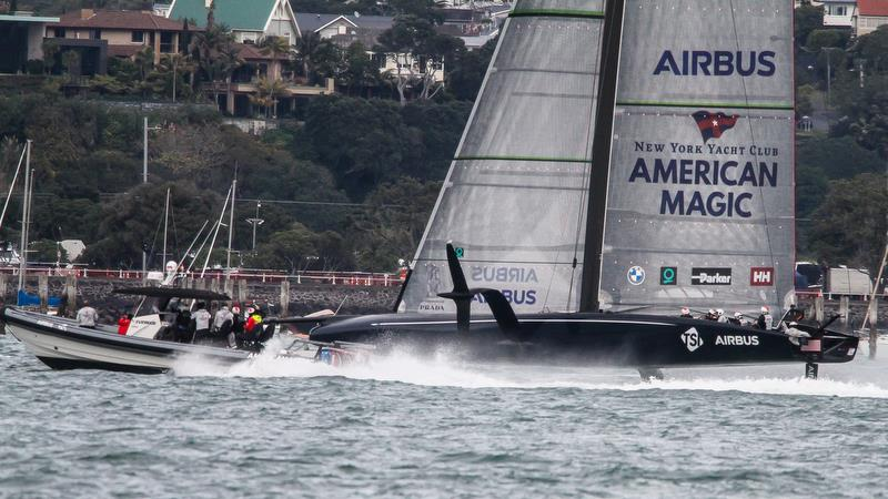 American Magic - Waitemata Harbour - Auckland - America's Cup 36 - July 28, 2020 photo copyright Richard Gladwell / Sail-World.com taken at Royal New Zealand Yacht Squadron and featuring the AC75 class