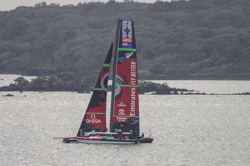 Te Aihe - AC75 - Emirates Team New Zealand with #1 jib hoisted and no Code Zero- August 10, 2020, Waitemata Harbour, Auckland, New Zealand - photo © Richard Gladwell / Sail-World.com