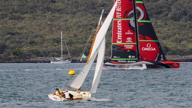 Jonquil (1914 Herreshoff) with Te Rehutai, Emirates Team New Zealand - November 23, 2020 - Waitemata Harbour - America's Cup 36 - photo © Richard Gladwell / Sail-World.com