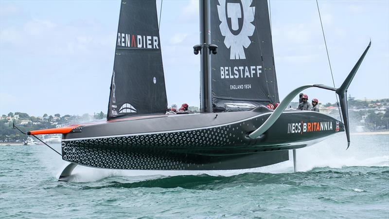 INEOS Team UK pre the start of Prada Cup racing -Waitemata Harbour - January 29, 2021 - 36th America's Cup - photo © Richard Gladwell / Sail-World.com