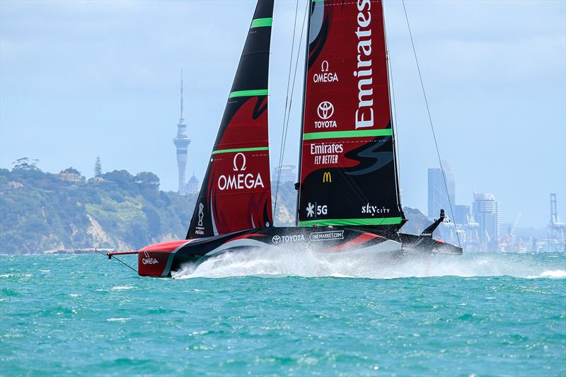 Te Rehutai, Emirates Team New Zealand - Waitemata Harbour - America's Cup 36 - photo © Richard Gladwell / Sail-World.com