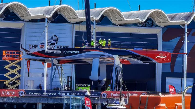 Side perspective - Emirates Team New Zealand, Auckland, America's Cup - March 2021 - photo © Richard Gladwell / Sail-World.com