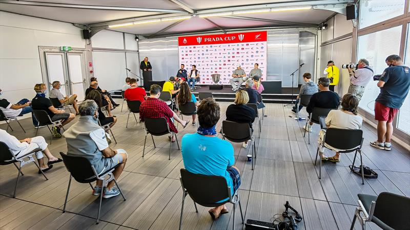 Media Centre under COVID Alert Level 2, Auckland, America's Cup - February 2021 - photo © Richard Gladwell / Sail-World.com