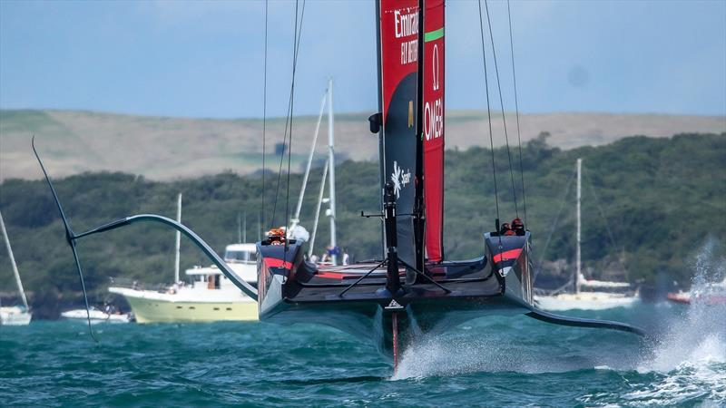 Emirates Team New Zealand- Training - Prada Cup Finals - Day 4 - February 21, 2021- America's Cup 36 - Course A - photo © Richard Gladwell / Sail-World.com