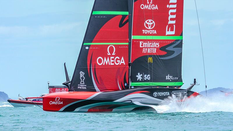 Emirates Team New Zealand- Training - December 2020 - America's Cup 36 - Course E - photo © Richard Gladwell / Sail-World.com / nz