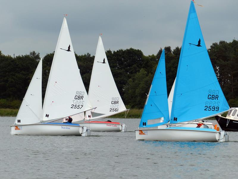 Liberty start during the Hansa TT at Northampton photo copyright Geof Portas taken at Northampton Sailing Club and featuring the Hansa class