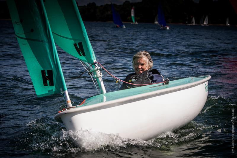 Margaret Foreman wins 2016 Hansa 303 (one person) UK National Championships at Carsington Sailability - photo © Mark Ludbrook