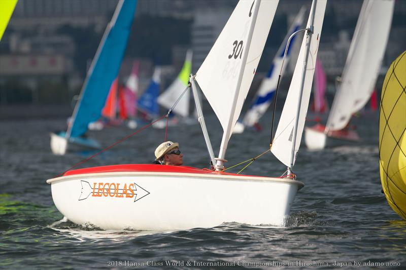 Val Milward at the windward mark during the Hansa Worlds in Japan - photo © Adamo Aono