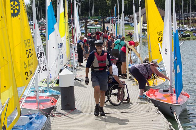 Busy jetty during the 2019 Hansa UK Nationals at Rutland - photo © John Deane