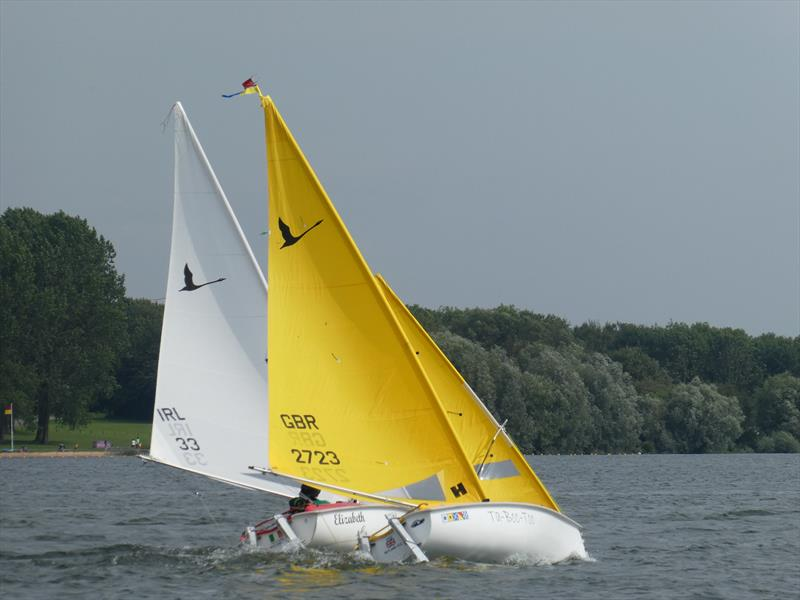 Close Liberty racing during the 2019 Hansa UK Nationals at Rutland - photo © Ivor Barrett