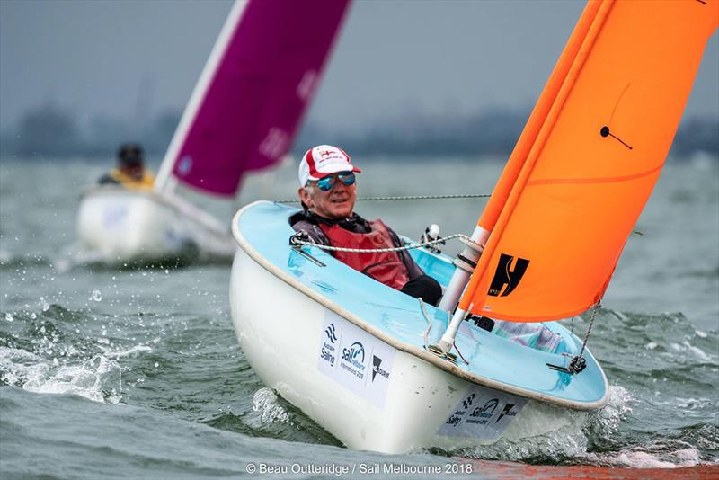 Robert Crofts WA 3rd in Hansa 303 - 2018 Australian Para Sailing Championships - photo © Beau Outteridge