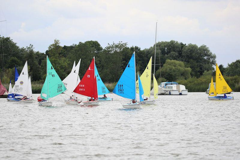 303 fleet round the windward mark - Hansa National TT Series at Waveney & Oulton Broad photo copyright Karen Langston taken at Waveney & Oulton Broad Yacht Club and featuring the Hansa class