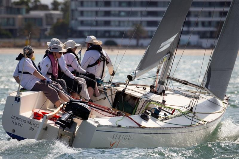 Serious Yahoo won the opening race - Port Phillip Women's Championship Series 2019 - photo © Bruno Cocozza