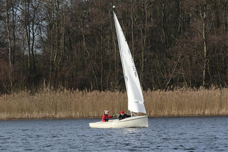 New Year's Day Open at Rollesby Broad - John Saddington and Dennis Manning were third photo copyright Kevin Davidson taken at Rollesby Broad Sailing Club and featuring the Albacore class