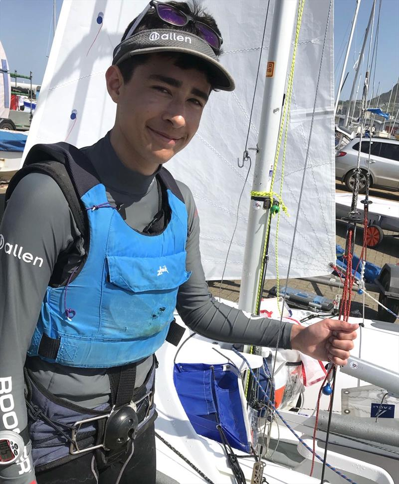 Jamie Harris wearing the Keyball harness - photo © Allen Sailing