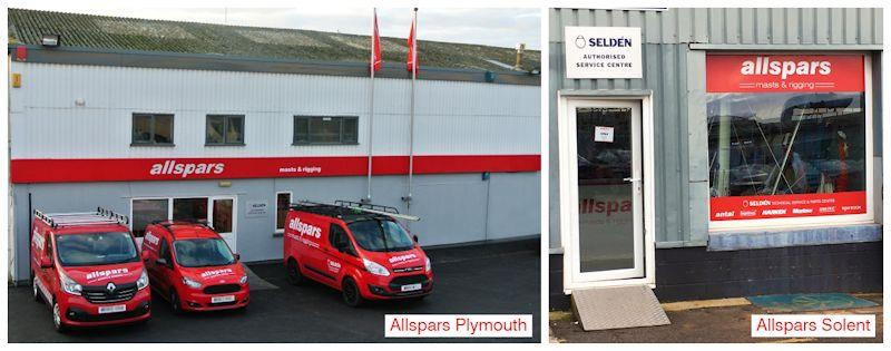 The two Allspars locations - photo © Allspars