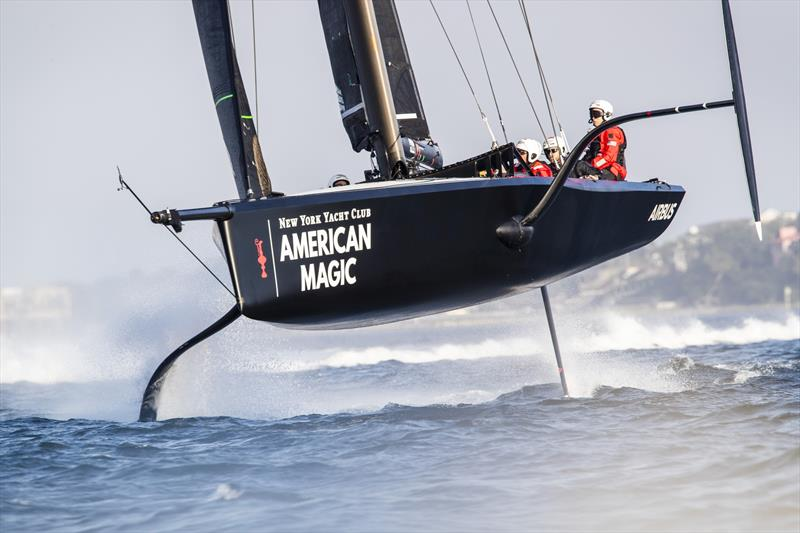NYYC American Magic had a McConachy 38 hull but otherwise is a half-size AC75 - Pensacola, Florida - February 2019 - photo © Amory Ross