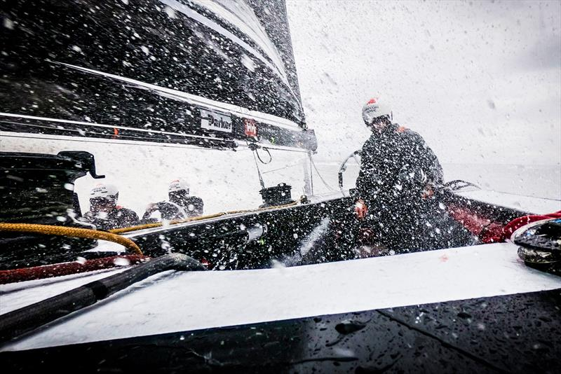 The high apparent wind speed of the AC75 and protypes are tough on the crew - American Magic photo copyright Amory Ross taken at New York Yacht Club and featuring the ACC class