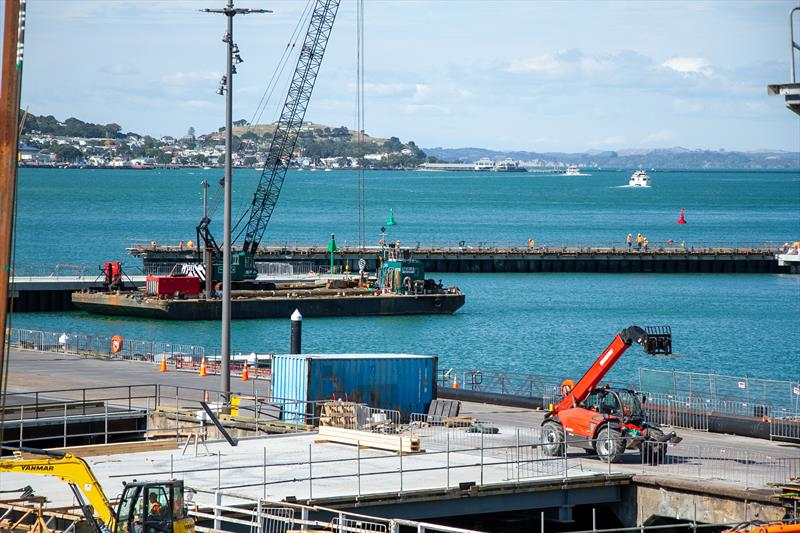 Sheltered launch harbour - America's Cup Bases - March 17, 2020 - Wynyard Point - photo © Richard Gladwell / Sail-World.com