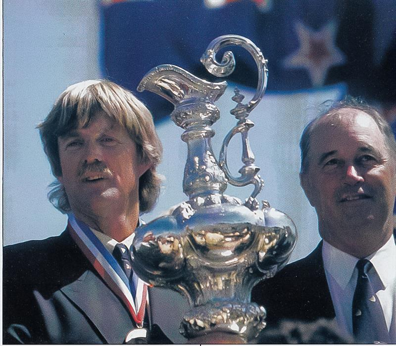 Peter Blake - America's Cup, San Diego, May 1995 photo copyright Sally Simins taken at San Diego Yacht Club and featuring the ACC class