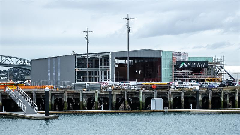 INEOS Team UK base - America's Cup Bases - Auckland - June 16, 2020 photo copyright Richard Gladwell / Sail-World.com taken at Royal New Zealand Yacht Squadron and featuring the ACC class