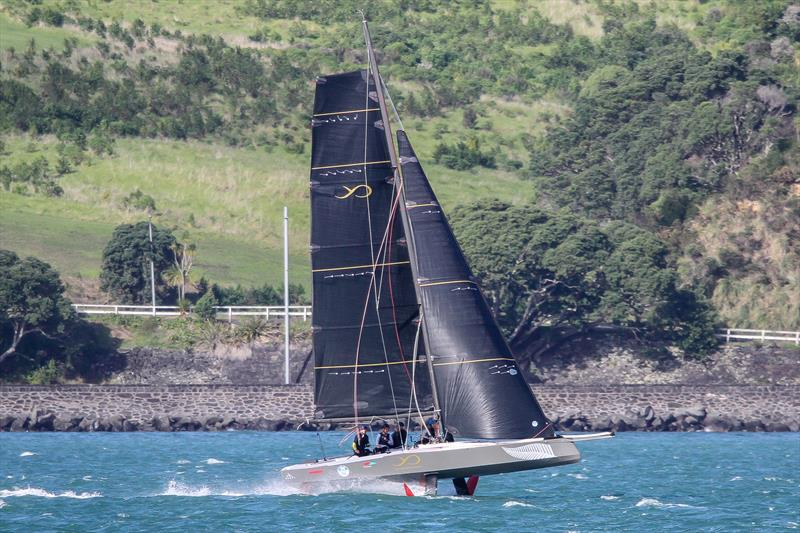AC9F - Youth America's Cup - foiling in 18-20kts breeze - Auckland - America's Cup 36 - July 24, 2020 - photo © Richard Gladwell / Sail-World.com