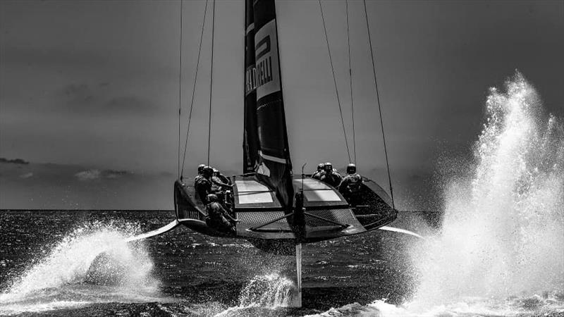 Luna Rossa training in black and white to give dramatic effect - photo © Luna Rossa