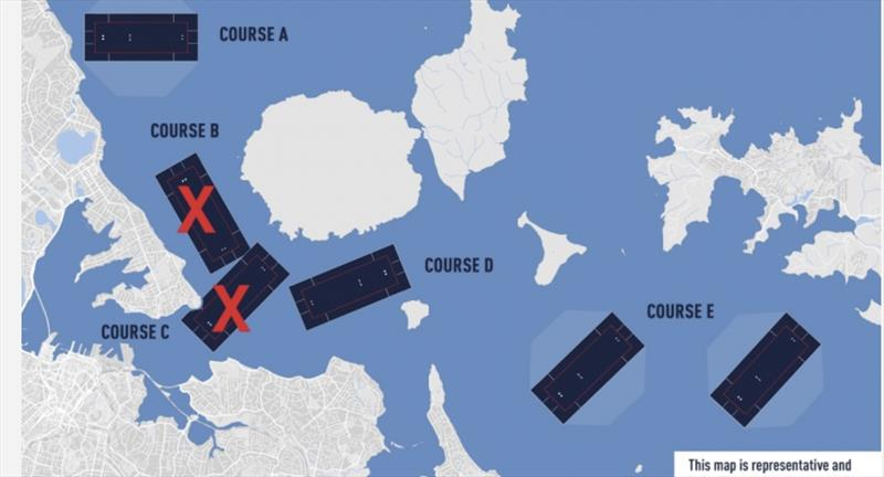 America's Cup courses will now consist of one racing venue and two foul wind venues. - photo © America's Cup Media