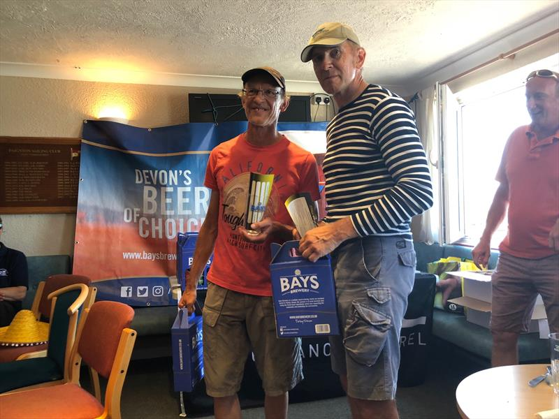 First timers award to Mattias Lange and Helge Ludwig from Blankeneser Segal Club in the Gul B14 Nationals at Paignton photo copyright Al Storer taken at Paignton Sailing Club and featuring the B14 class