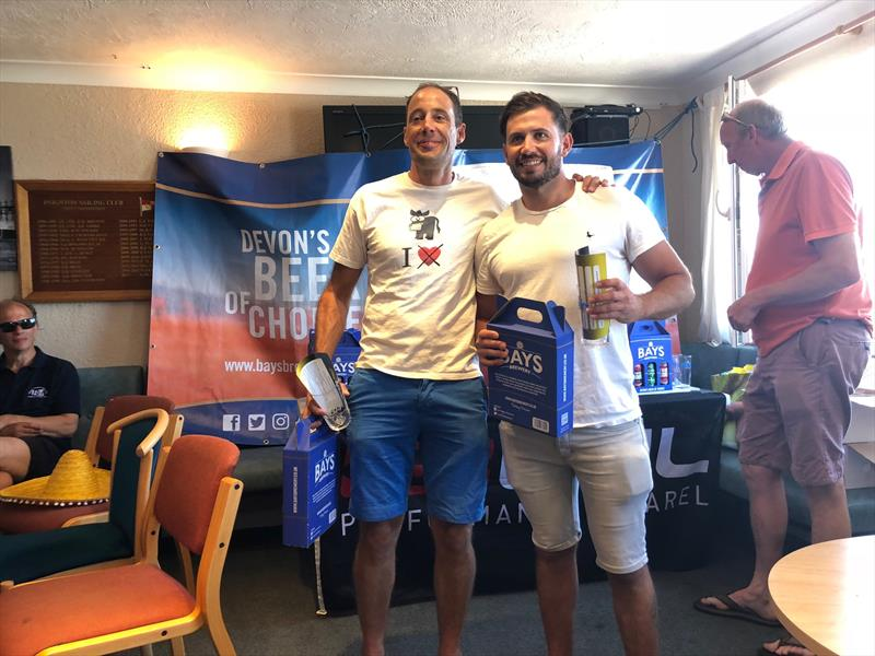 Mark Watts & Matt Johnson finish 3rd in the Gul B14 Nationals at Paignton photo copyright Al Storer taken at Paignton Sailing Club and featuring the B14 class