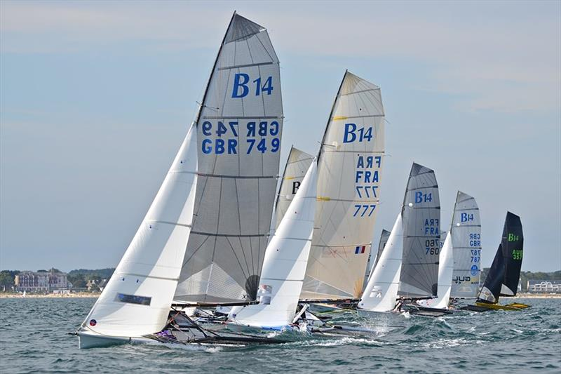B14 Worlds at Carnac day 4 photo copyright Alex Hayes taken at Yacht Club de Carnac and featuring the B14 class