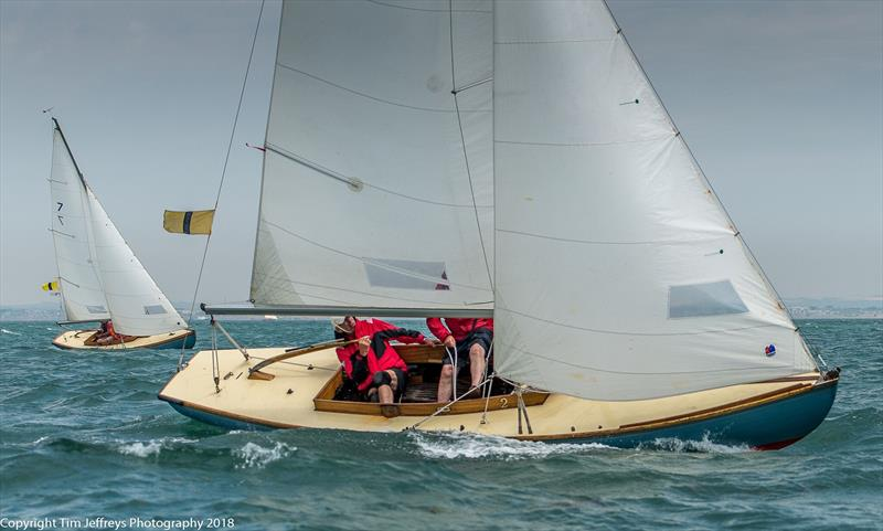 Close racing for the Bembridge One Designs on day 4 of Cowes Classics Week - photo © Tim Jeffreys Photography