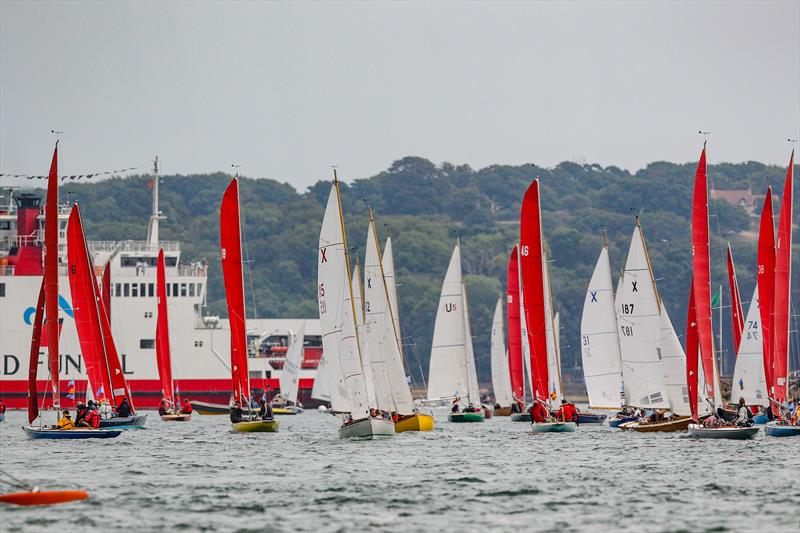 Redwings mixed with XODs, Mermaids and Flying 15s on day 4 at Lendy Cowes Week - photo © Paul Wyeth / CWL