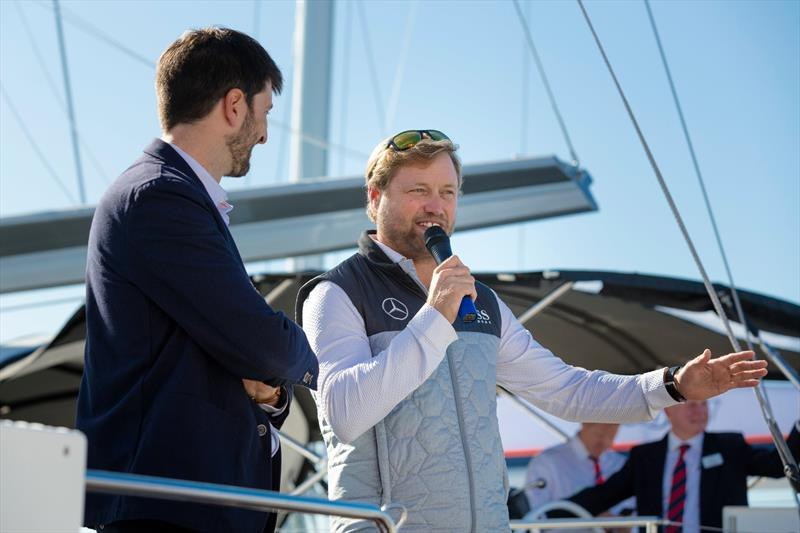 Alex Thomson during the Beneteau Oceanis 51.1 UK launch - photo © Christopher Ison