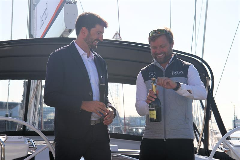 Alex Thomson during the Beneteau Oceanis 51.1 UK launch photo copyright Mark Jardine / YachtsandYachting.com taken at  and featuring the Beneteau class