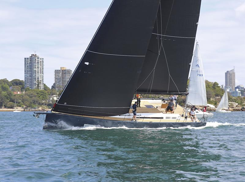 The new Beneteau First Yacht 53 winding up on Sydney Harbour. - photo © Flagstaff Marine