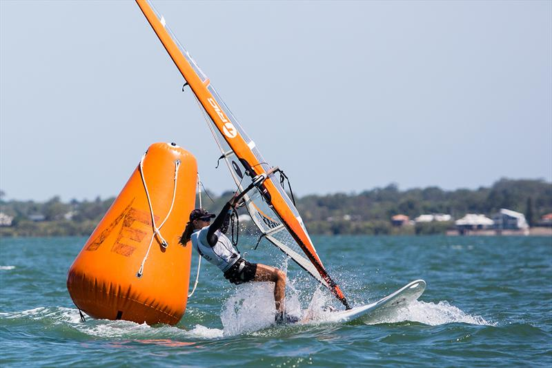 Hailey Lea in action - 2018 Australian Youth Championships photo copyright RQYS Natasha Hoppner taken at Royal Queensland Yacht Squadron and featuring the Bic Techno class