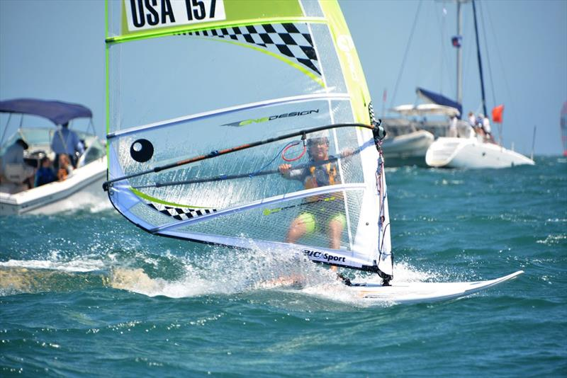 The Techno 293 windsurfer is one of exciting performance development classes being offered a start at the Pensacola Yacht Club's Junior Olympic Sailing Festival June 28-30. - photo © Techno 293 class