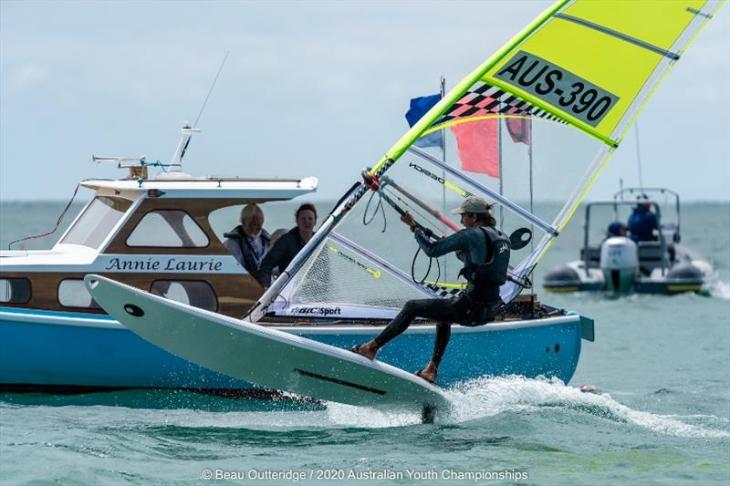 2020 Australian Youth Championships photo copyright Beau Outteridge taken at Sorrento Sailing Couta Boat Club and featuring the Bic Techno class