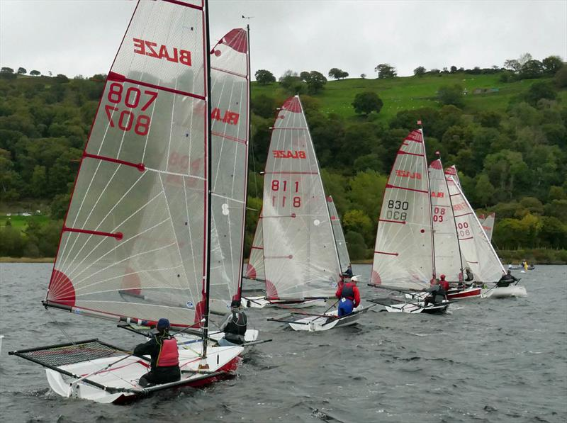 Blaze Inlands at Bala photo copyright John Hunter taken at Bala Sailing Club and featuring the Blaze class