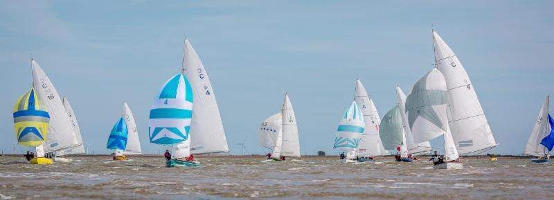 Zhik Pyefleet Week at Brightlingsea  photo copyright Dave White taken at Brightlingsea Sailing Club and featuring the Brightlingsea One Design class
