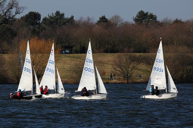 A good number of Cadets on day 8 of the Alton Water Frostbite Series - photo © Tim Bees