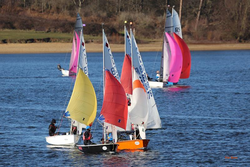 The Cadets always enjoy close racing on week 5 of the Alton Water Fox's Chandlery Frostbite Series - photo © Tim Bees