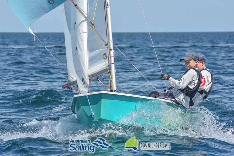 Jack and Archie Kretschmer in the International Cadet fleet last year - South Australian Youth Championships - photo © Harry Fisher