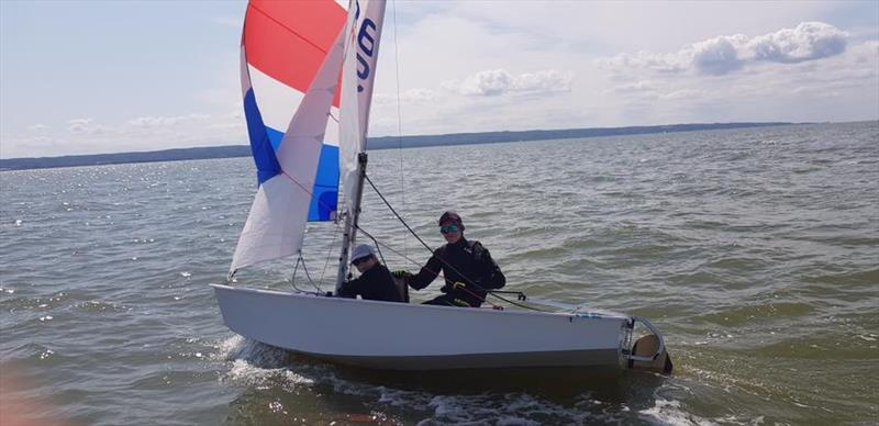 Ben Bowman and Sam Hooper also represented Sandy Bay Sailing Club - 2019 Cadet World Championship photo copyright International Cadet Class taken at  and featuring the Cadet class