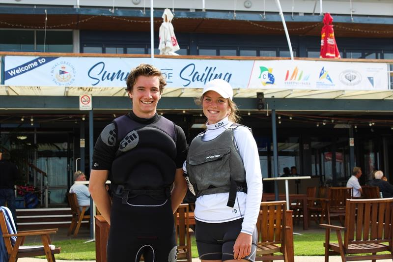 Cadet Nationals - Elliot Hughes and Jarrah Harris-Moore photo copyright Sarah Pettiford taken at Royal Geelong Yacht Club and featuring the Cadet class