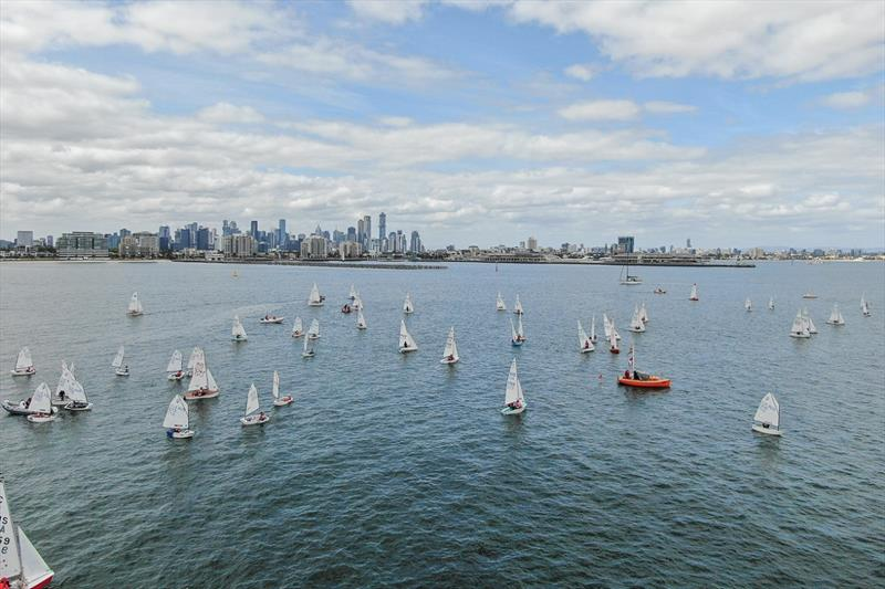 An outstanding view of the city skyline can be seen from the race course - International Cadet World Championships - photo © Harry Fisher